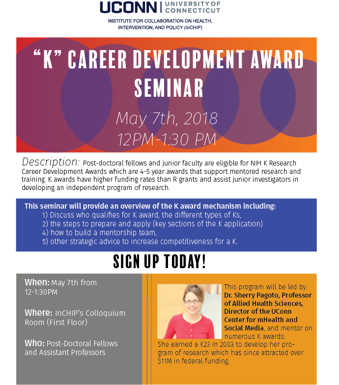 K-Career Dev. Award Seminar Flyer